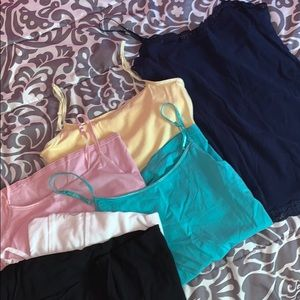 Camisoles in various colors